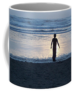 Beach Boy Silhouette Coffee Mug by Peter Mooyman