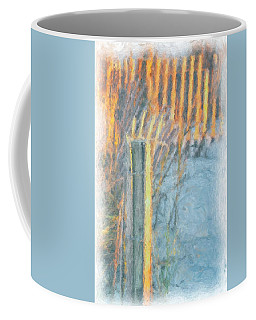 Coffee Mug featuring the photograph Beach Fence by Lynne Jenkins