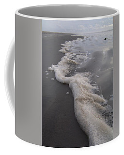 Beach Foam Art Coffee Mug by Peter Mooyman