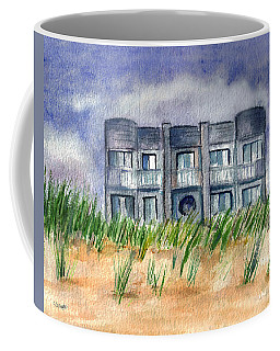 Coffee Mug featuring the painting Beach House by Clara Sue Beym