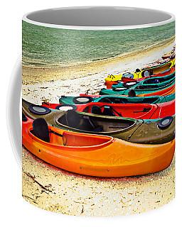 Beach Kayaks Coffee Mug