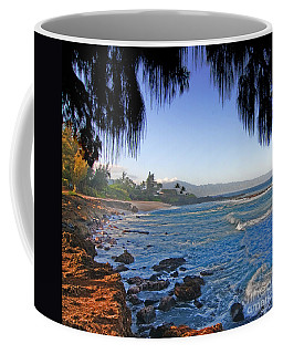 Beach On North Shore Of Oahu Coffee Mug