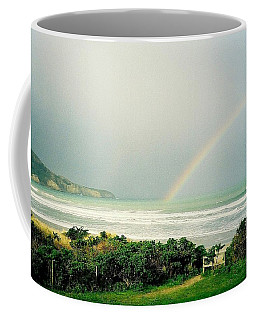 Beach Rainbow Coffee Mug by Peter Mooyman