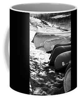 Beached Kayaks Coffee Mug