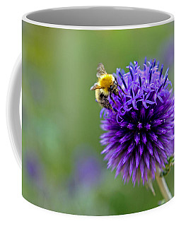 Bee On Garden Flower Coffee Mug