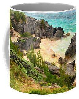 Coffee Mug featuring the photograph Bermuda Hidden Beach by Verena Matthew