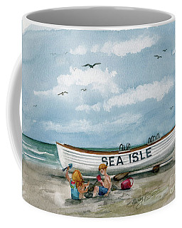 Coffee Mug featuring the painting Best Buddies In Sea Isle  by Nancy Patterson