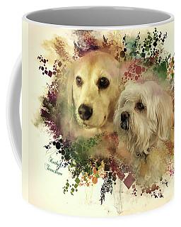 Coffee Mug featuring the digital art Best Friends by Kathy Tarochione