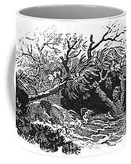 Bewick: Man Drowning Coffee Mug