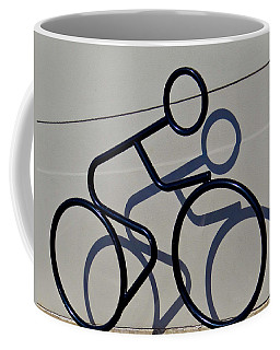 Coffee Mug featuring the photograph Bicycle Shadow by Julia Wilcox