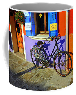 Bicycle Stance Burano Italy Coffee Mug