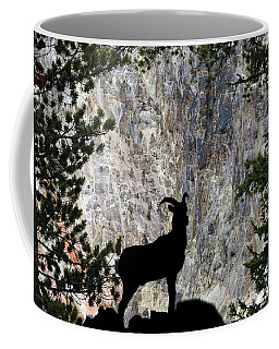Coffee Mug featuring the photograph Big Horn Sheep Silhouette by Dan Friend