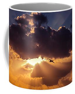 Bird In Sunrise Rays Coffee Mug