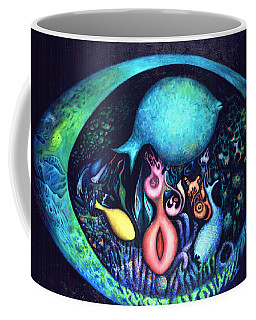 Coffee Mug featuring the painting Birth Of Genes by Lynn Buettner