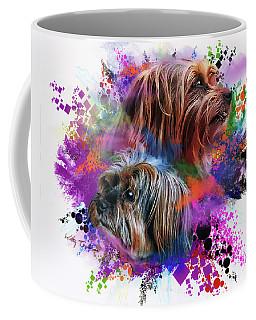Coffee Mug featuring the digital art Birthday Boy Shel by Kathy Tarochione