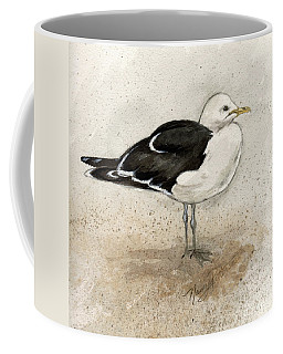 Coffee Mug featuring the painting Black Backed Gull  by Nancy Patterson