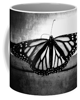 Coffee Mug featuring the photograph Black Butterfly by Julia Wilcox