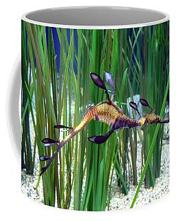 Coffee Mug featuring the photograph Black Dragon Seahorse by Carla Parris
