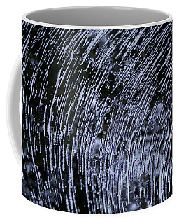 Black Water White Foam Coffee Mug