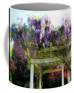 Coffee Mug featuring the photograph Blooming Wisteria  by Nancy Patterson