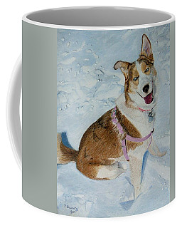 Blue - Siberian Husky Dog Painting Coffee Mug