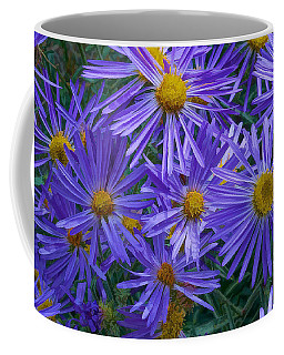 Blue Asters Coffee Mug
