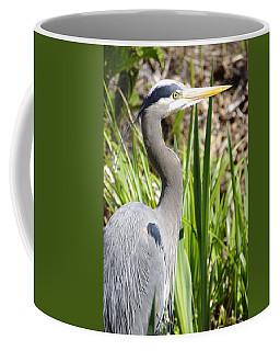 Coffee Mug featuring the photograph Blue Heron by Marilyn Wilson