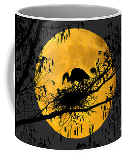 Coffee Mug featuring the photograph Blue Heron On Roost by Dan Friend