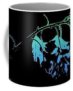 Coffee Mug featuring the photograph Blue On Black by Lauren Radke