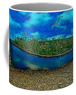 Coffee Mug featuring the photograph Blue Sky Boat  by Chris Lord