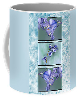 Coffee Mug featuring the photograph Bluebell Triptych by Steve Purnell