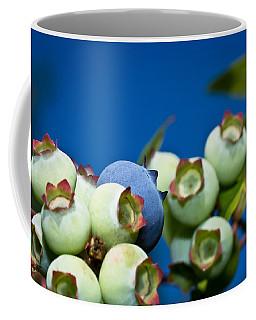 Blueberries And Sky Coffee Mug