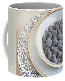 Blueberries In Blue And White China Bowl Coffee Mug by Lyn Randle