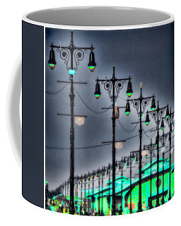 Coffee Mug featuring the photograph Boardwalk Lights by Chris Lord