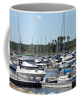 Coffee Mug featuring the photograph Boats At Winthrop Harbor by Debbie Hart