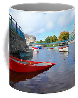 Coffee Mug featuring the photograph Boats On The Garavogue by Charlie and Norma Brock