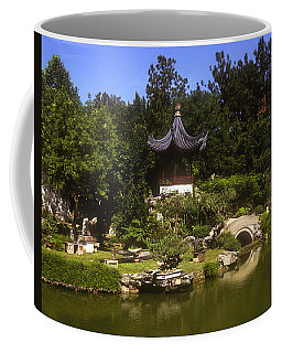Coffee Mug featuring the photograph Bonzai Garden And Gazebo 19l by Gerry Gantt