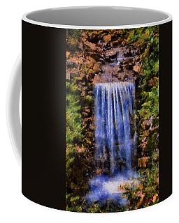 Coffee Mug featuring the digital art Botanical Garden Falls by Lynne Jenkins