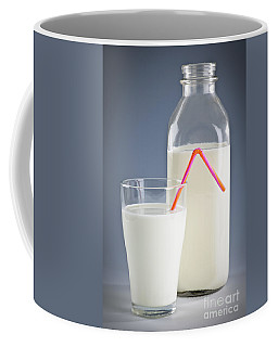 Bottle And Glass Of Milk Coffee Mug