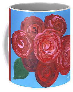 Coffee Mug featuring the painting Bouquet Of Roses by Alys Caviness-Gober