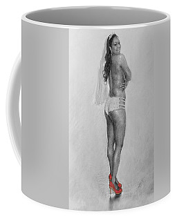 Bride In Red Heels Coffee Mug