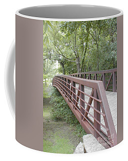 Coffee Mug featuring the photograph Bridge To Beyond by Vonda Lawson-Rosa