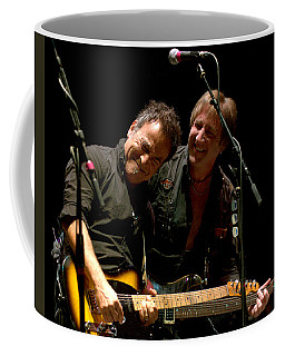 Coffee Mug featuring the photograph Bruce Springsteen And Danny Gochnour by Jeff Ross