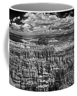 Bryce Canyon - Black And White Coffee Mug by Larry Carr