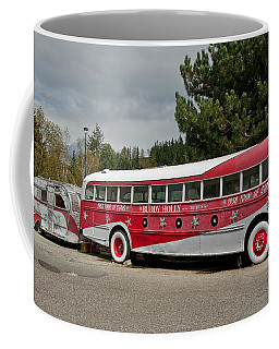 Buddy Holly 1958 Tour Of Stars Bus Art Prints Coffee Mug by Valerie Garner