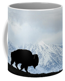 Coffee Mug featuring the photograph Buffalo Suvived Another Yellowstone Winter by Dan Friend