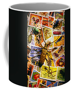 Bugs On Postage Stamps Coffee Mug