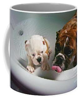 Bulldog Bath Time II Coffee Mug by Jeanette C Landstrom