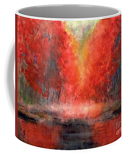 Burning Lake Coffee Mug by Yoshiko Mishina