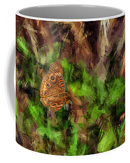 Coffee Mug featuring the photograph Butterfly Camouflage by Dan Friend